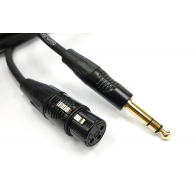 HXFSB-3 Female XLR to 1/4TRS cable 3'