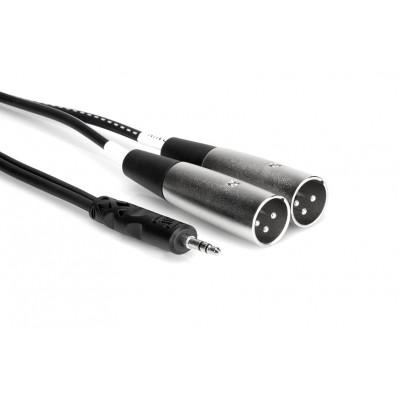 Câble Y 3.5mm à double XLR mâle 10'